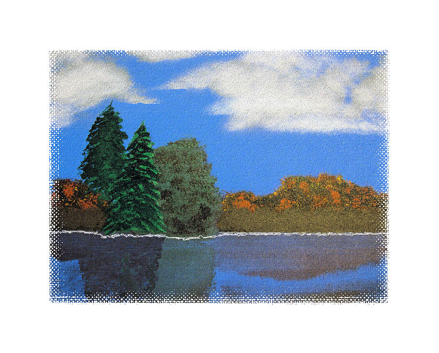 Landscape Painting - Autumn Dusk- A Tribute To Ross by Robert Boyette