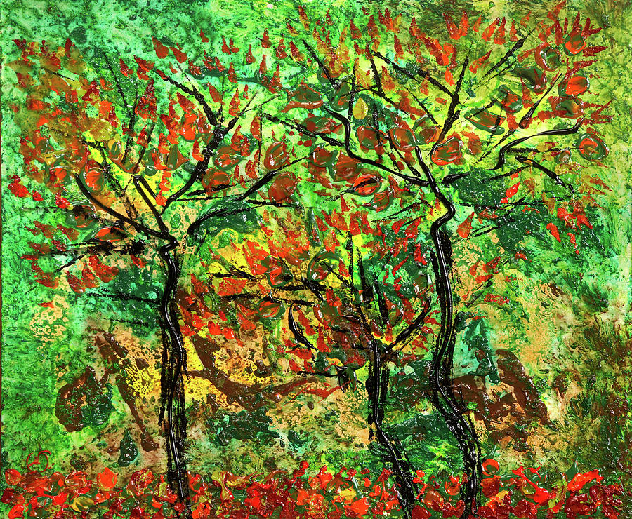 Acrylic Painting Painting - Autumn by Erik Tanghe