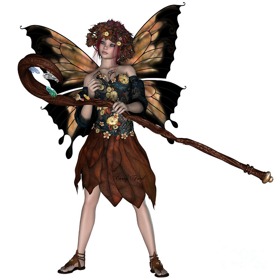 Fairy Painting - Autumn Fairy by Corey Ford