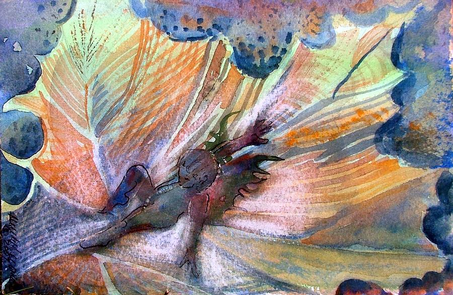 Fairy Painting - Autumn Fairy by Mindy Newman