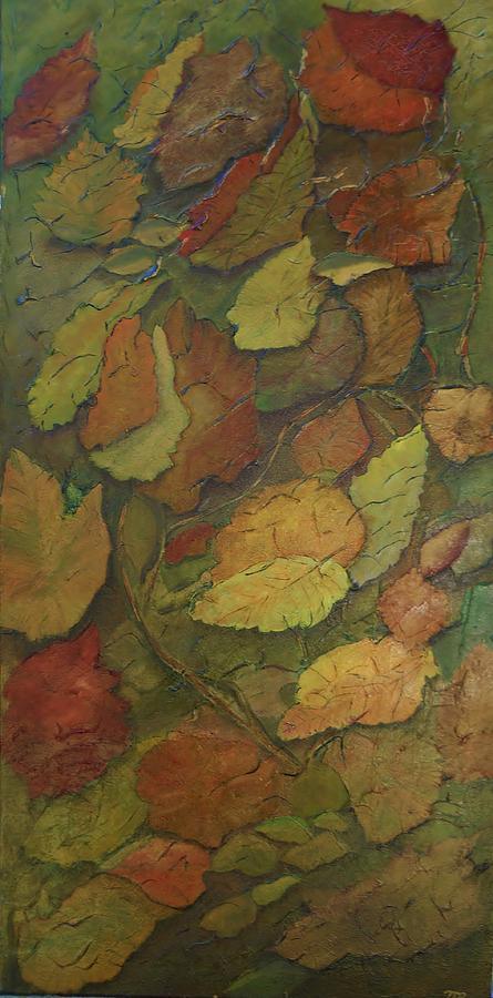 Autumn Falling Painting by Monica Hebert