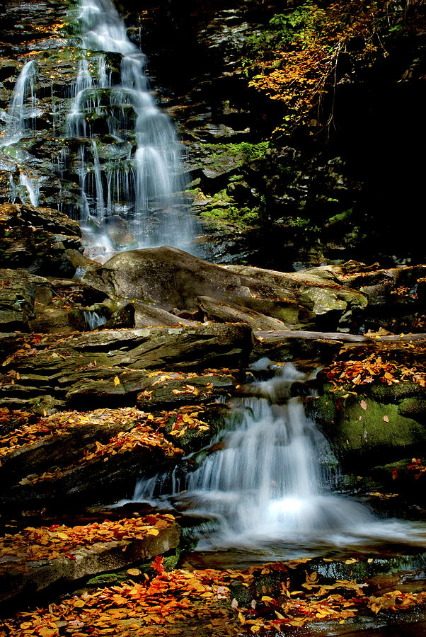 Ricketts Glen Photograph - Autumn Falls - 2885 by Paul W Faust - Impressions of Light
