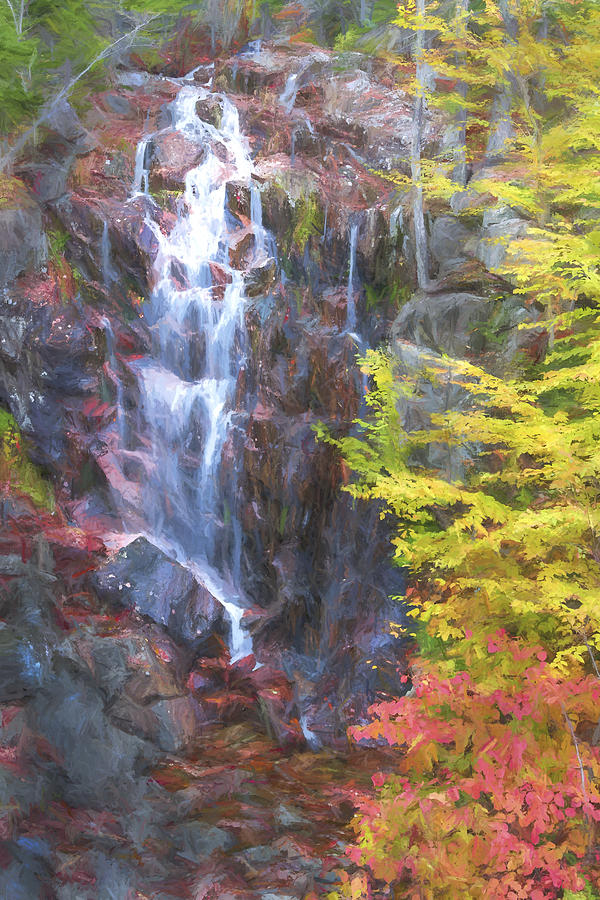 Maine Digital Art - Autumn Falls Away II by Jon Glaser