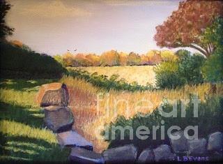 Autumn Field by Lynda Evans