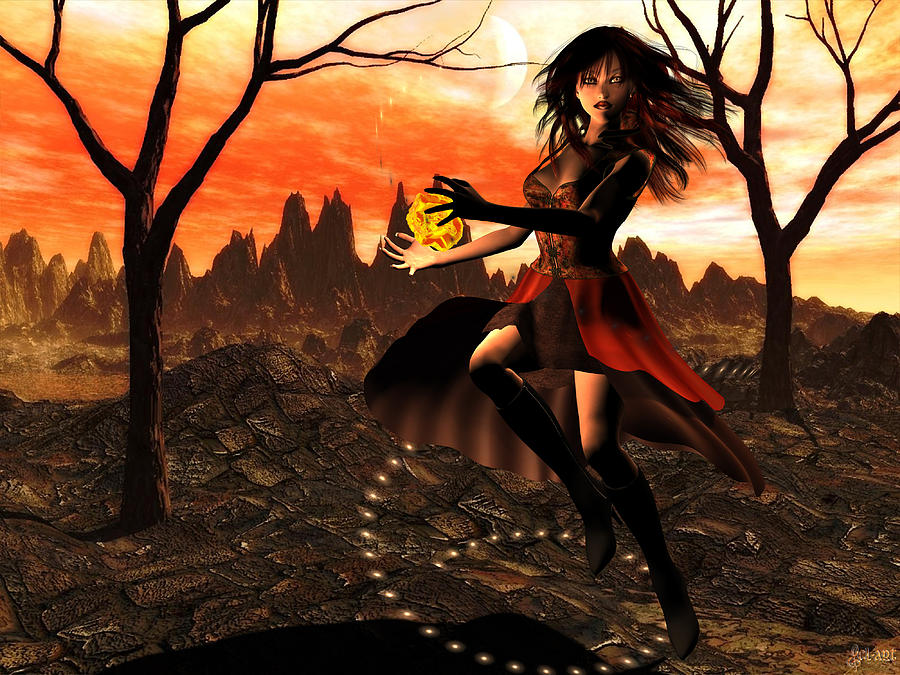 Magic Digital Art - Autumn Fire by Christy Lube