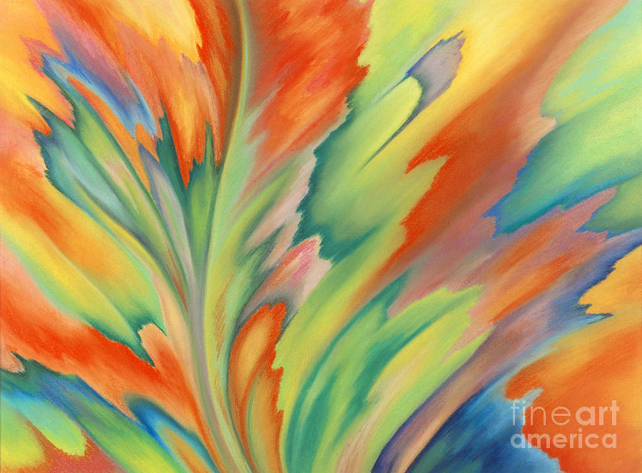 Abstract Painting - Autumn Flame by Lucy Arnold