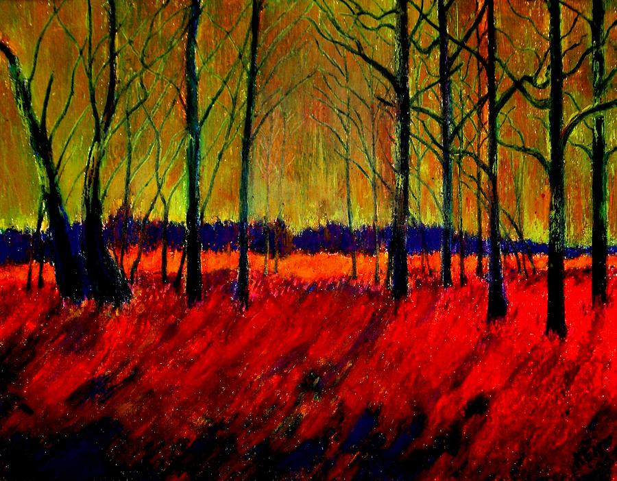 Autumn Painting - Autumn Flames 1 by Kent Whitaker