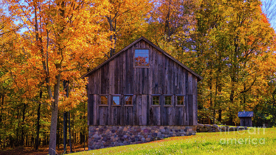 Autumn Foliage In Middlebury Vermont Photograph