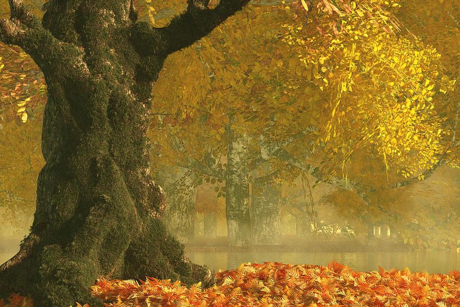 Autumn Forest Digital Art - Autumn Forest by Mindscape Arts