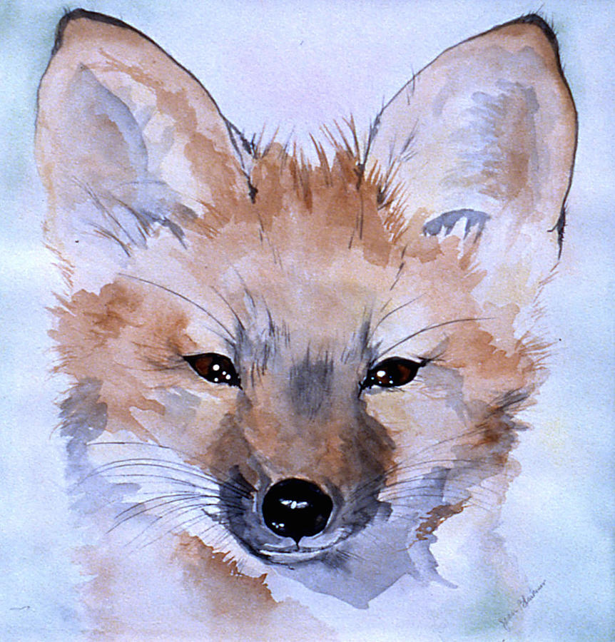 Fox Painting - Autumn Fox by Jean Blackmer