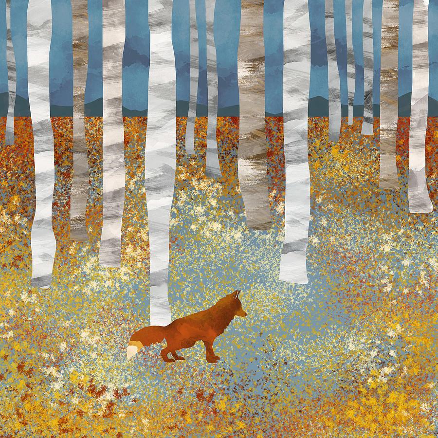 Autumn Digital Art - Autumn Fox by Spacefrog Designs