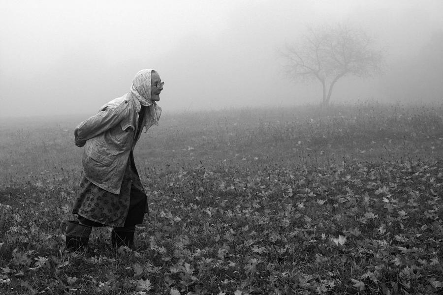 Portrait Photograph - Autumn by Fproject - Przemyslaw Kruk