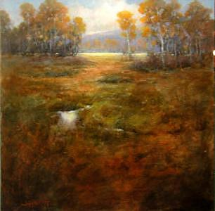 Autumn Glow Painting by Shirley McKay
