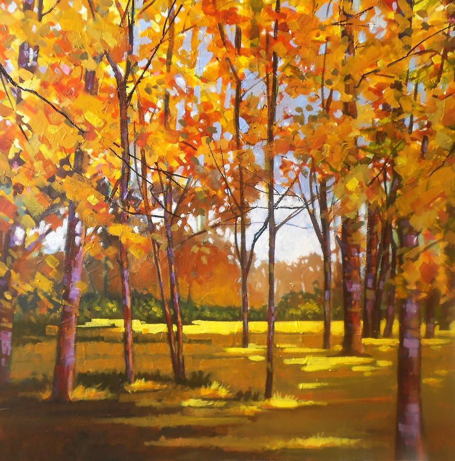 Landscape Painting - Autumn Gold by Jim Mc Partlin