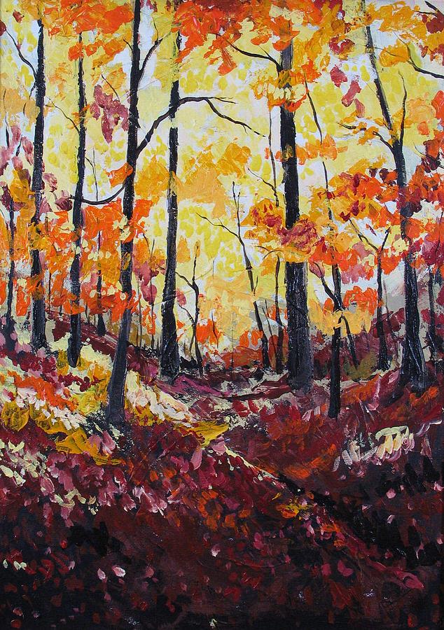 Autumn Painting - Autumn Gold by Rollin Kocsis