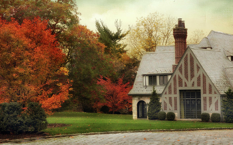 House Photograph - Autumn Grandeur by Jessica Jenney