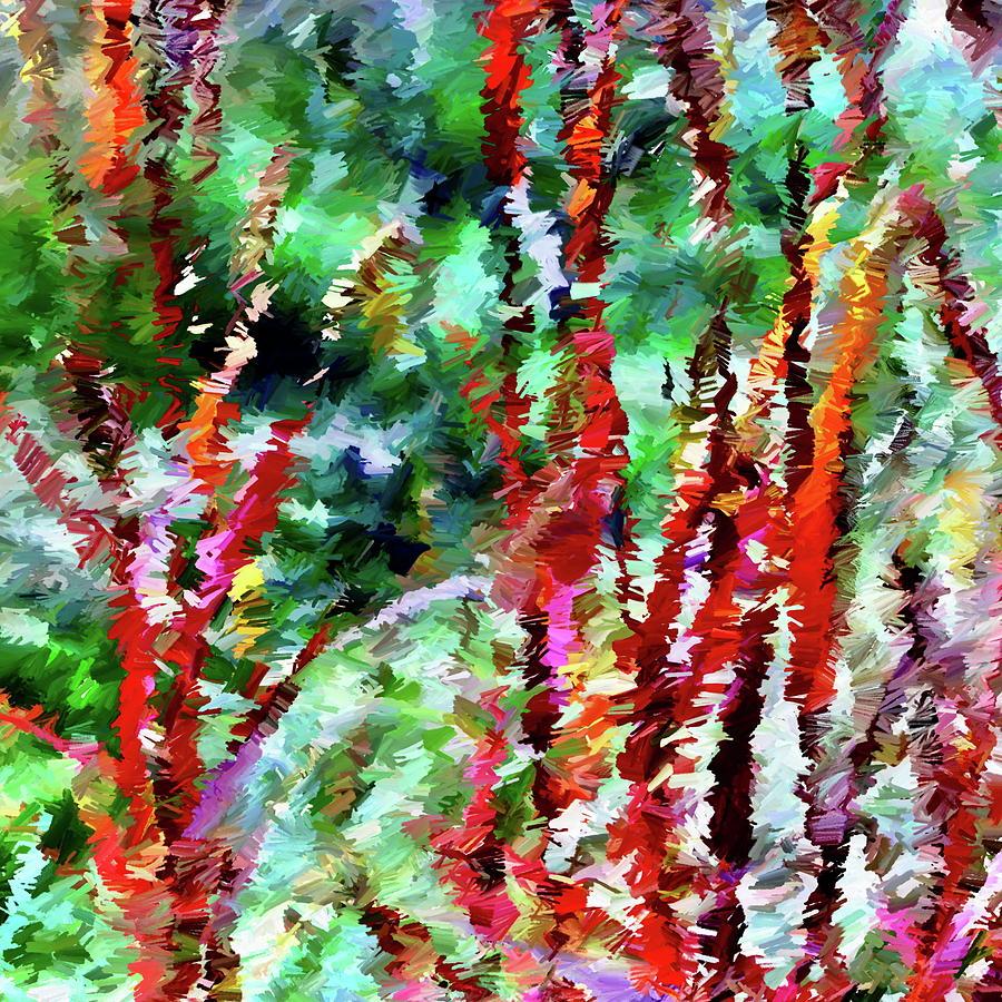 Autumn Digital Art - Autumn Grasses Abstract by Dana Roper