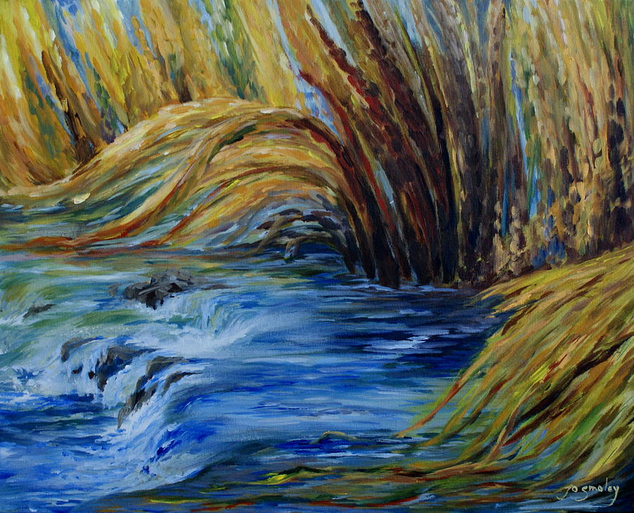 Water Painting - Autumn Grasses by Joanne Smoley