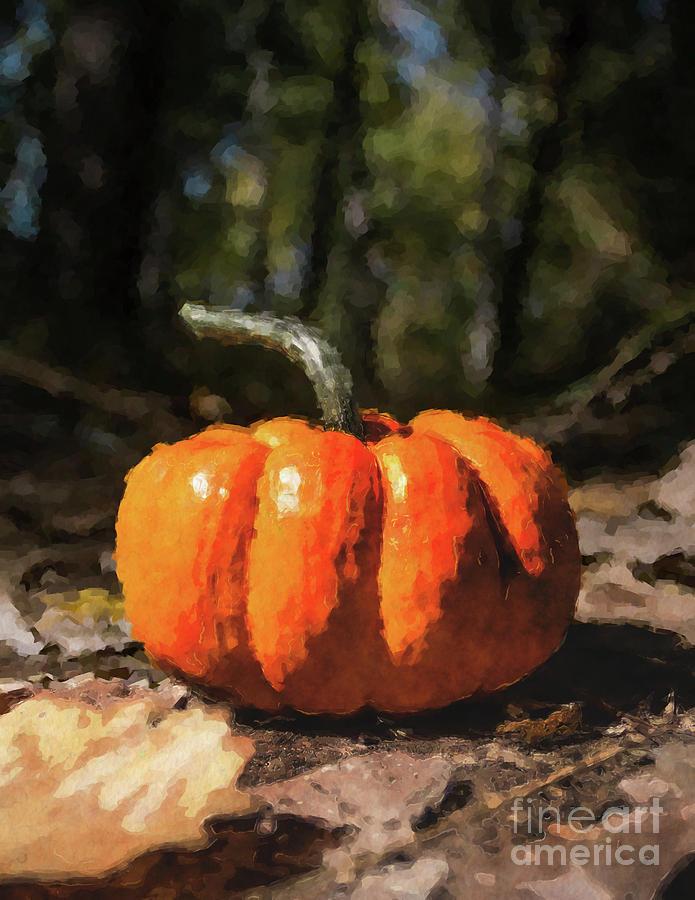 Pumpkin Digital Art - Autumn Halloween Pumpkin by Phil Perkins