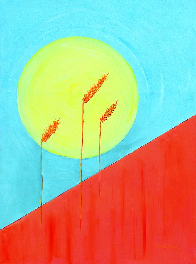 Landscape Painting - Autumn Harvest by J R Seymour