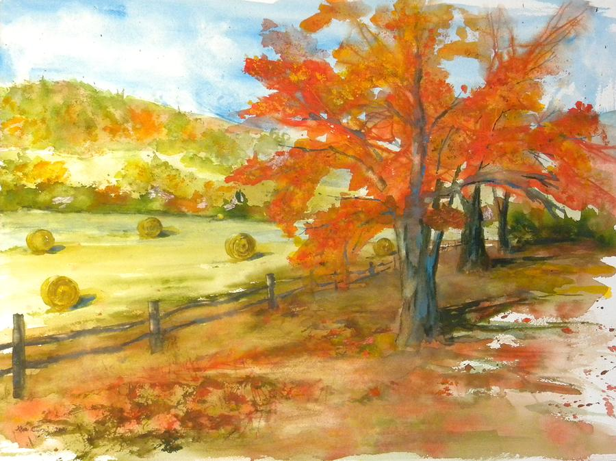 Fall Foliage Painting - Autumn Harvest by Kris Dixon