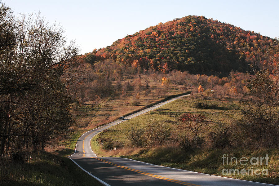 Autumn Photograph - Autumn Hill Near Hancock Maryland by William Kuta