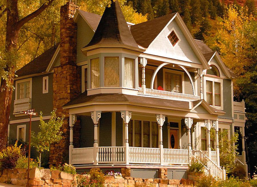 Autumn Painting - Autumn House by David Lee Thompson