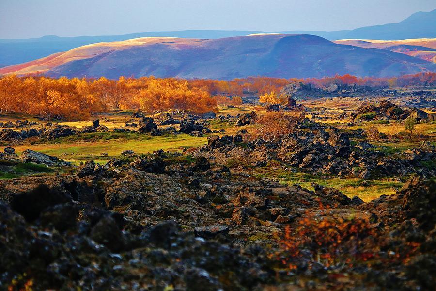 Autumn Icelandic Volcanic Hills Photograph