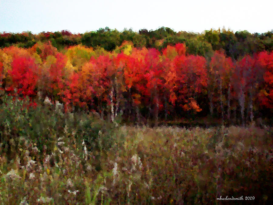 Autumn Digital Art - Autumn Impressions II by Michelle  BarlondSmith