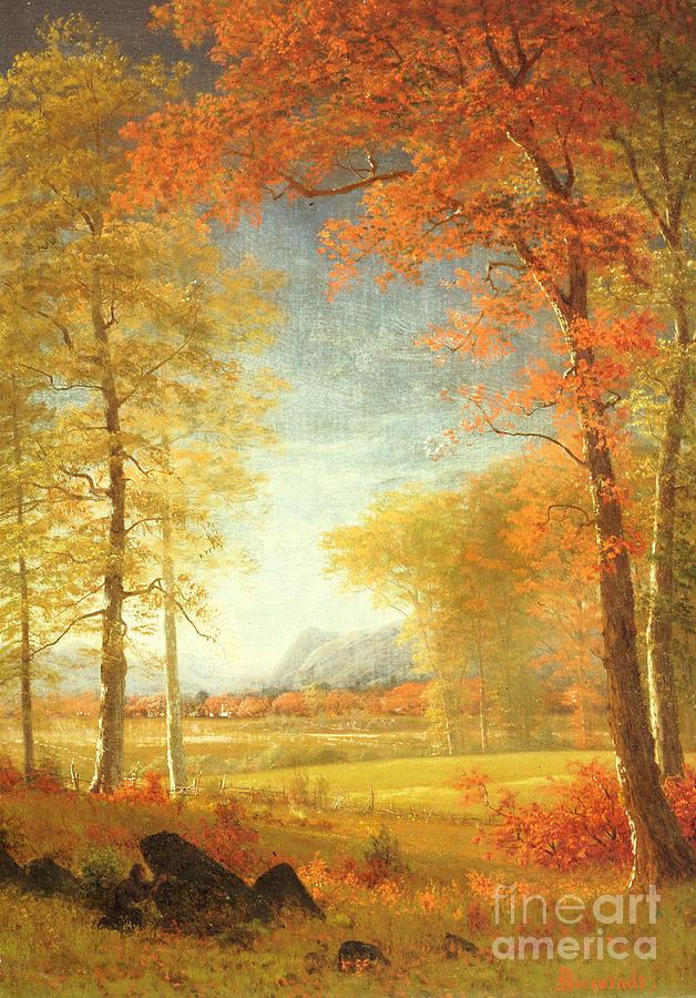 Albert Painting - Autumn In America by Albert Bierstadt