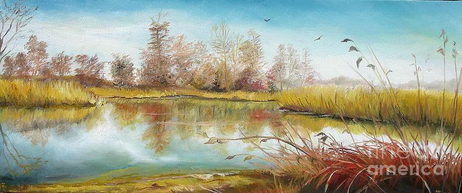 Autumn In Delta Painting