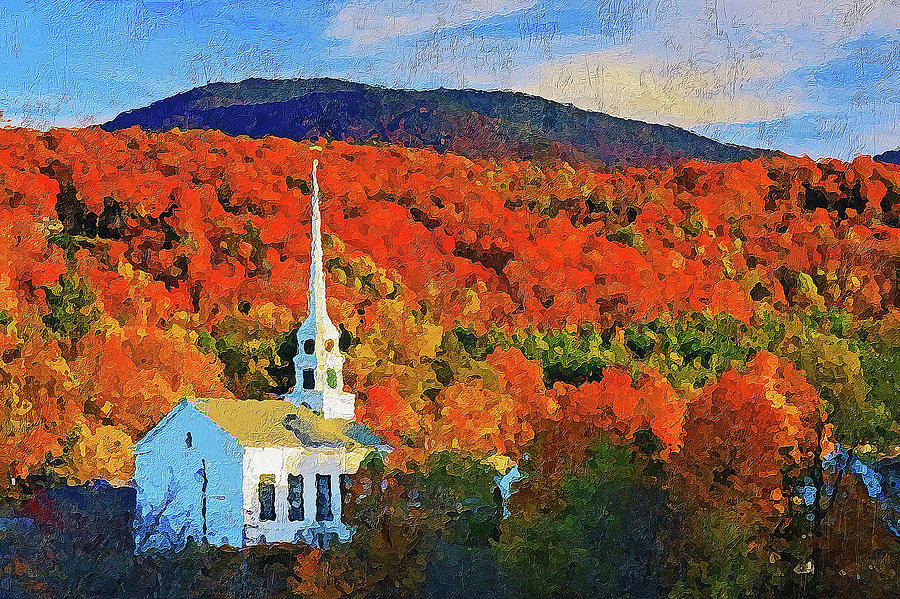 Autumn In New England 04 Painting By Am Fineartprints