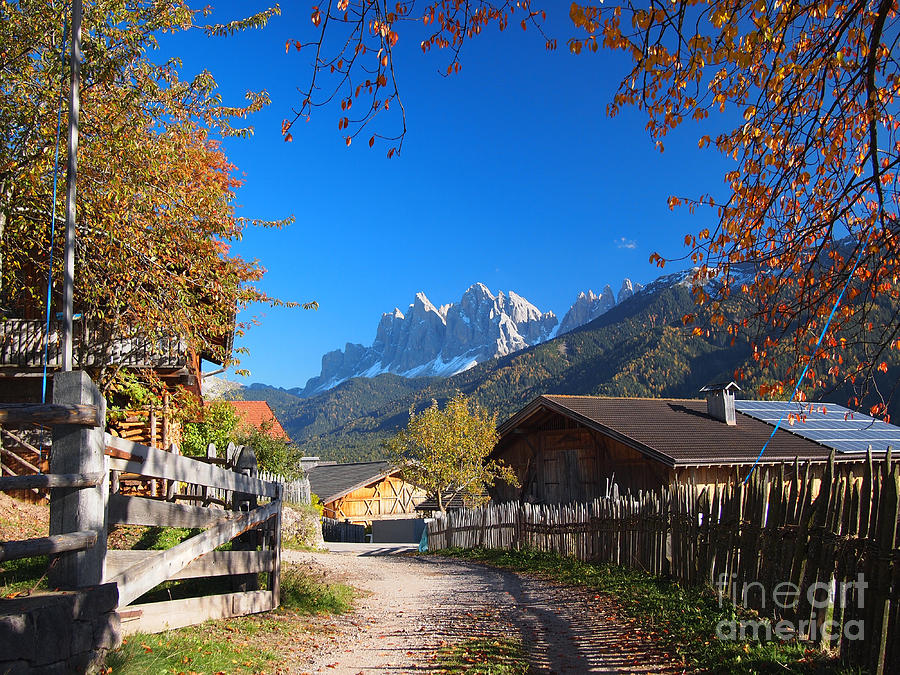 Village Photograph - Autumn In South Tyrol by IPics Photography