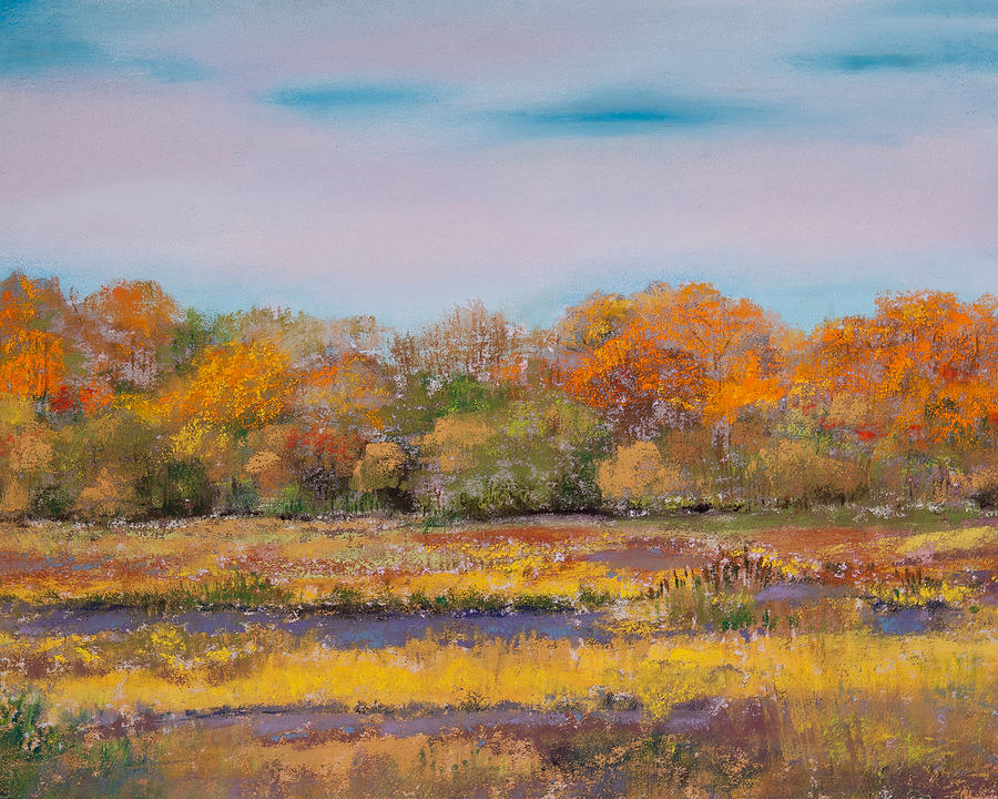 Pastel Painting - Autumn In The Adirondack Mountains by David Patterson