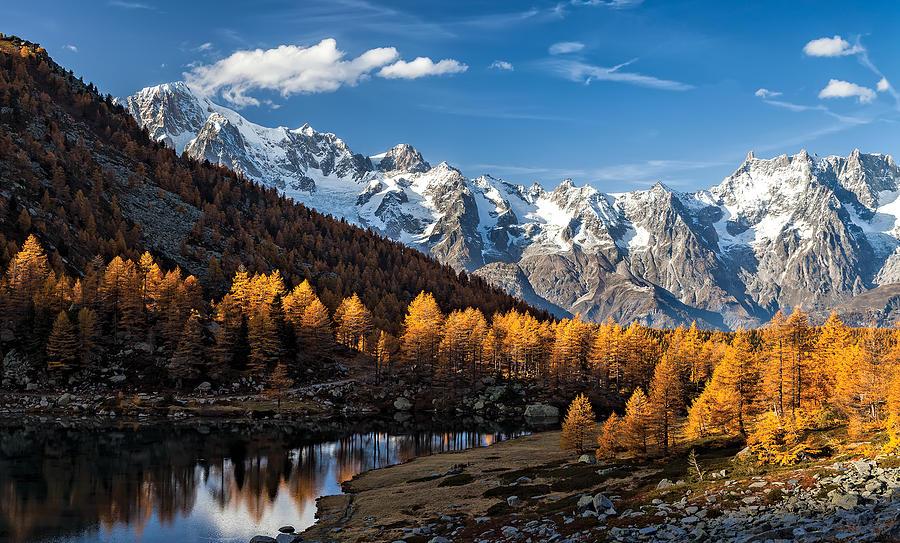 Alps Photograph - Autumn In The Alps by Alfredo Costanzo
