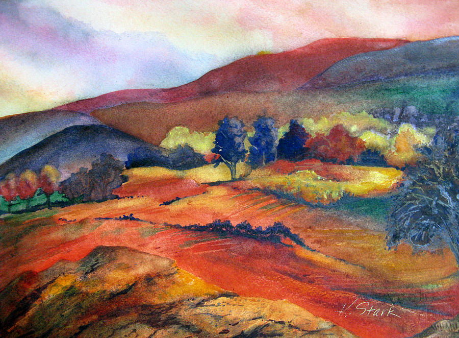 Landscape Painting - Autumn In The Country by Karen Stark