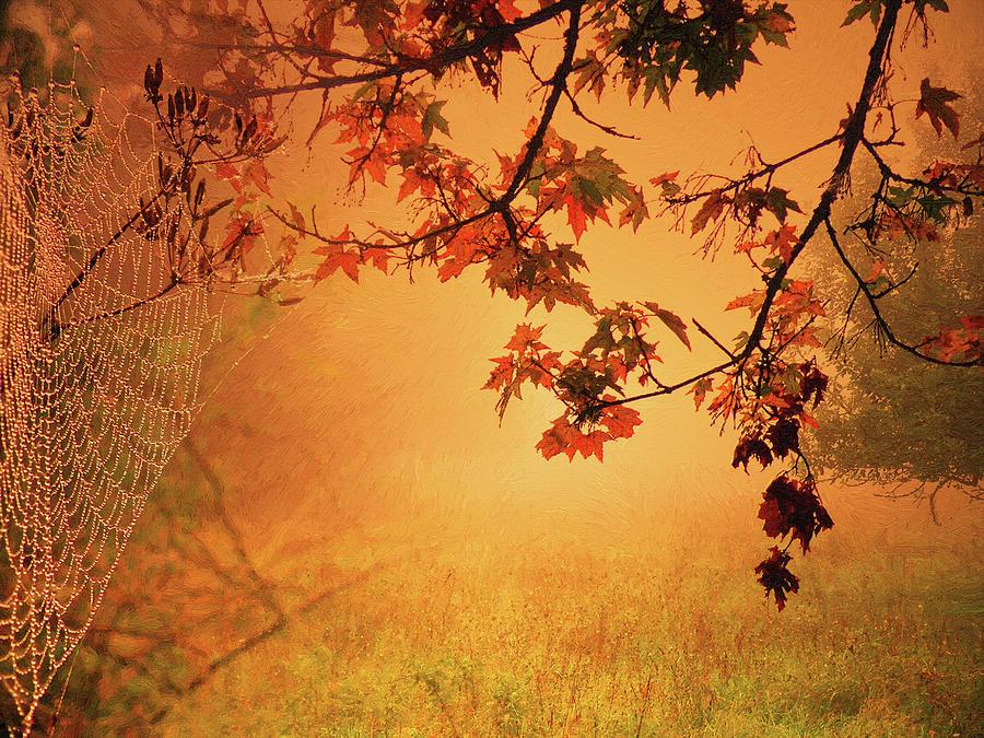 Nature Digital Art - Autumn In The Fog. by Alex Lim