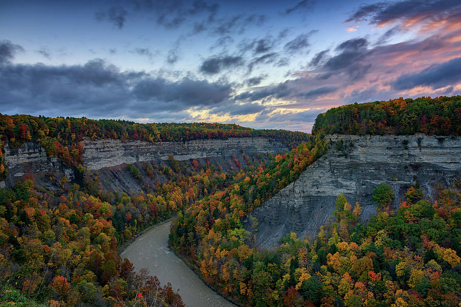 Letchworth State Park Photograph - Autumn In The Gorge by Rick Berk