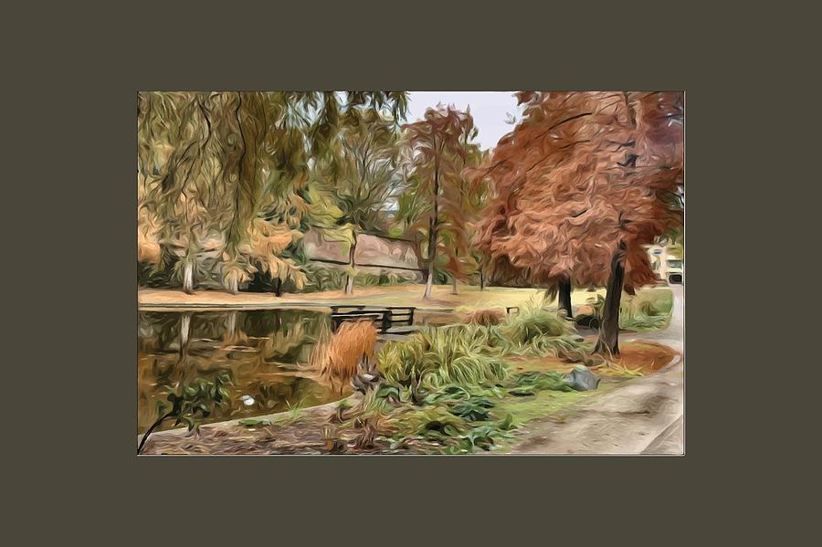 Autumn Digital Art - Autumn In The Park by Amanda Patrick