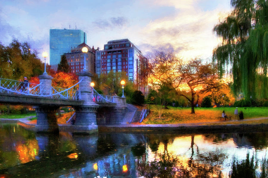 Autumn In The Park Boston Public Garden Photograph By Joann Vitali
