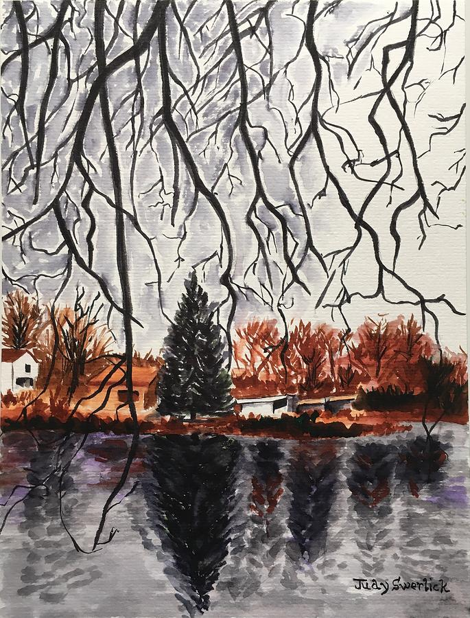 Landscape Painting - Autumn in Upstate by Judy Swerlick