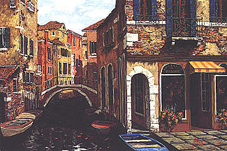 Autumn In Venice Painting by Viktor Shvaiko