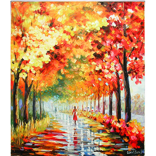 Impressionism Painting - Autumn Is Pretty by Daniel Wall