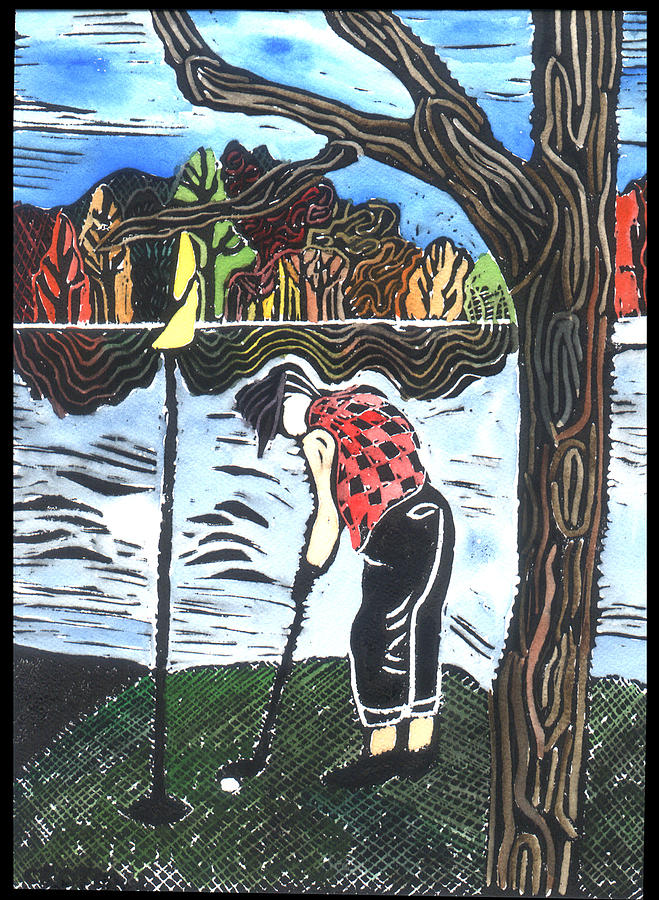 Golf Painting - Autumn  by Jane Croteau