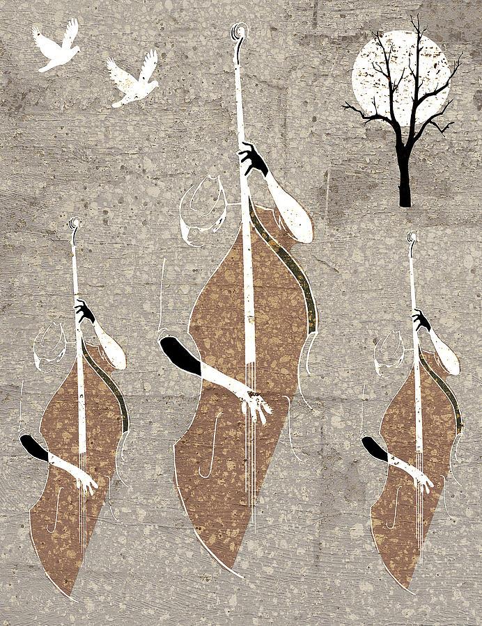 Birds In Flight Digital Art - Autumn Jazz by Regina Wyatt