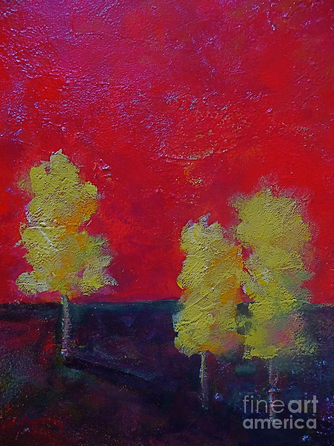 Aspen Trees Painting - Autumn Jewels by Xx X