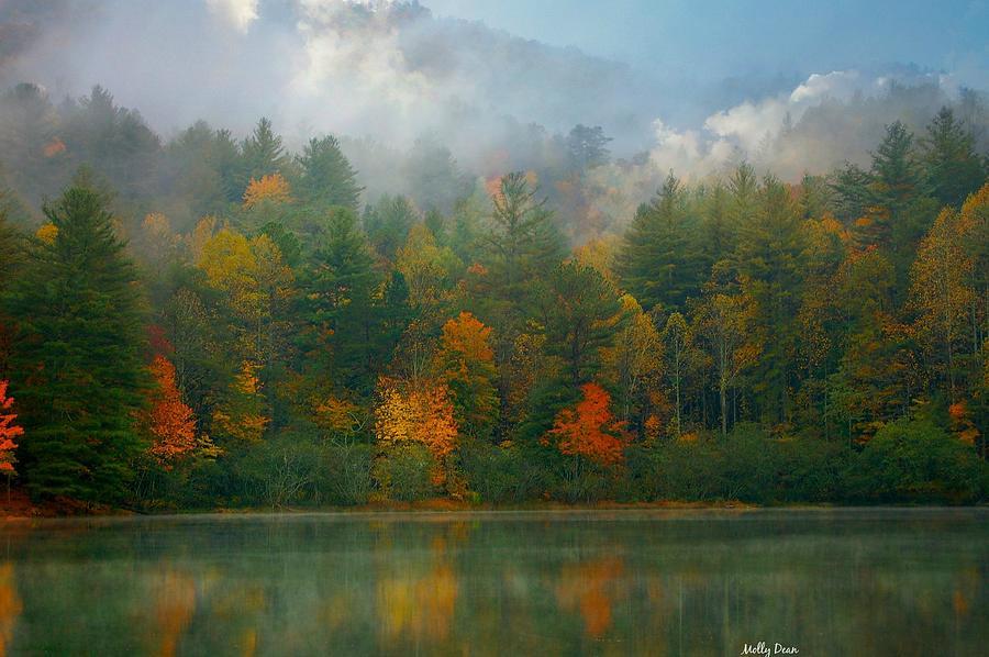 Autumn Colors Photograph - Autumn Lake by Molly Dean