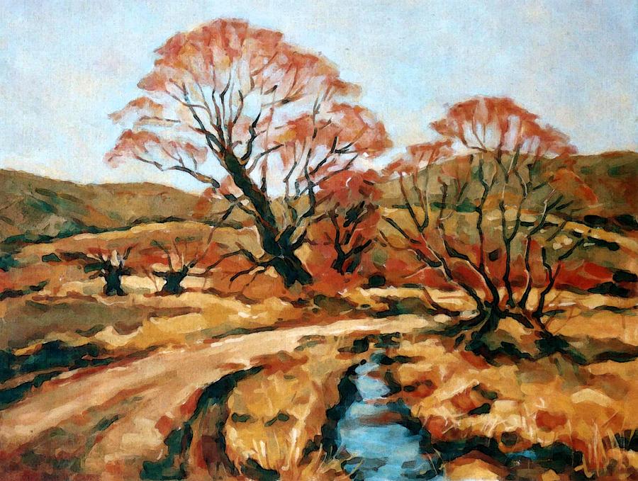 Landscape Painting - Autumn Landscape by Iliyan Bozhanov
