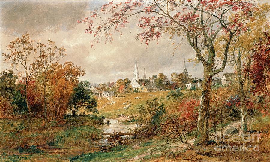 Autumn Landscape Painting By Jasper Francis Cropsey