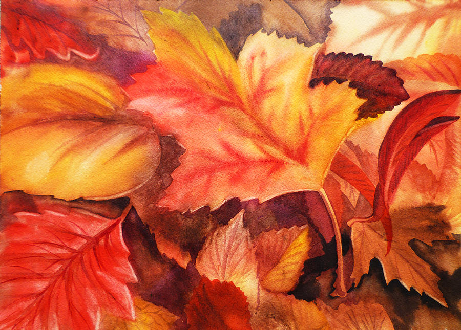 autumn leaves painting by irina sztukowski
